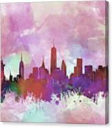 New York Skyline Watercolor 3 Canvas Print