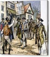 New York: Stamp Act , 1765 Canvas Print