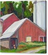 New York State Farm With Silos Canvas Print