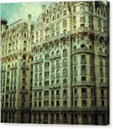 New York Upper West Side Apartment Building Canvas Print