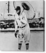 New York Yankees. Babe Ruth, Holding Canvas Print