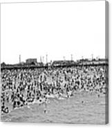 New Yorkers At Coney Island. Canvas Print