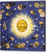 New York's New Solar System Vintage Poster 1898 Canvas Print