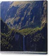 New Zealand Stirling Falls In Hanging Valley Canvas Print
