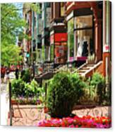 Newberry Street Spring Canvas Print