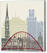 Newcastle Skyline Poster Canvas Print