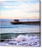 Newport Beach Ca Pier At Sunrise Canvas Print