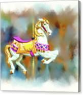 Newport Beach Carousel Horse Canvas Print