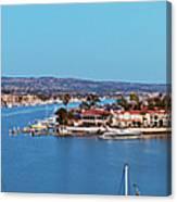Newport Beach Harbor At Dusk Canvas Print