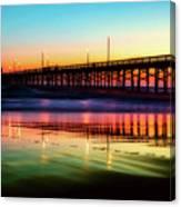 Newport Beach Pier At Sunrise Canvas Print