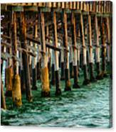 Newport Beach Pier Close Up Canvas Print