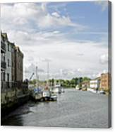 Newport Harbour Iow Canvas Print