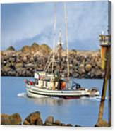 Newport Oregon - Coastal Fishing Canvas Print