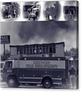 Newport Oregon Fire Department Drill - Practice Fire Drills Canvas Print