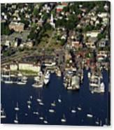 Newport Ri From The Air Canvas Print
