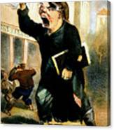 Newsboy Shouting, 1847 Canvas Print