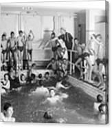 Newsboys Swimming 1900s Canvas Print