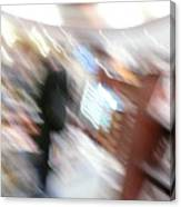 Newstand Blur Canvas Print