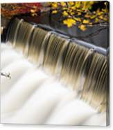 Newton Upper Falls Autumn Waterfall Canvas Print