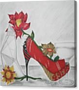Nfl 49ers Stiletto Canvas Print