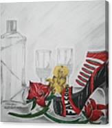 Nfl Falcons Stiletto Canvas Print