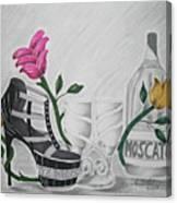 Nfl Raiders Stiletto Canvas Print
