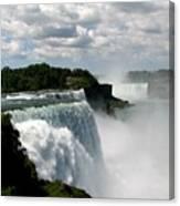 Niagara Falls American And Canadian Horseshoe Falls Canvas Print