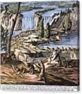 Niagara Falls: Beavers, 1715 Canvas Print