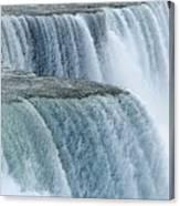 Niagara Falls Closeup Charcoal Effect Canvas Print