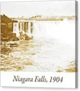 Niagara Falls Ferry Boat, 1904, Vintage Photograph Canvas Print