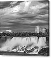 Niagara Falls - The American Side 3 Bw Canvas Print