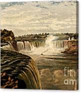 Niagara Falls With Rainbow, 1860 Canvas Print