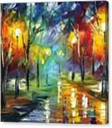 Nice Park Canvas Print