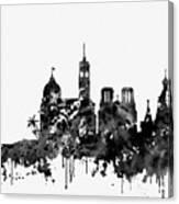 Nice Skyline-black Canvas Print