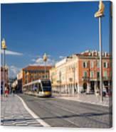Nice Tramway At Place Massena Canvas Print