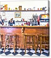 Nick's Diner Canvas Print