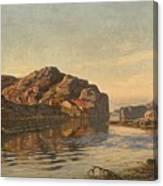 Nielsen, Amaldus Clarin 1838-1932 Morning, Ny-hellesund 1909 Canvas Print