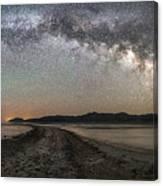 Night In The Black Rock Desert Canvas Print