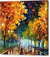 Night Autumn Park  Canvas Print
