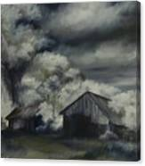 Night Barn Canvas Print