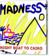 Night Boat To Cairo 1979 Canvas Print
