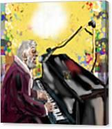 Night Club Singer Canvas Print