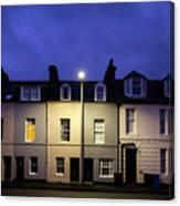 Night Darkens The Street Canvas Print