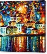 Night Harbor Canvas Print