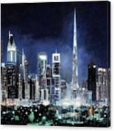 night in Dubai City Canvas Print