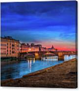 Night In Florence Italy Canvas Print