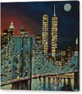 Night In Manhattan Canvas Print
