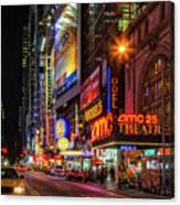 Night In The Big Apple Canvas Print