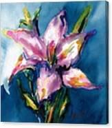 Night Lily Canvas Print