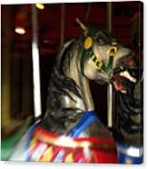 Night Mares At The Central Park Carousel 3 Canvas Print